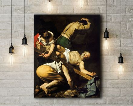 Caravaggio: The Crucifixion of Saint Peter. Fine Art Canvas.